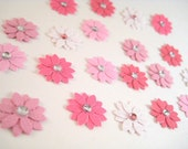 Shades of Pink Flower Embellishments - FREE SHIPPING