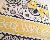 Yellow Butterfly Wedding Card