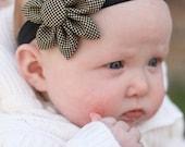 Black Mini Dot Bloom Headband