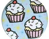 Cupcake Swirl Pocket Mirror