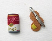 Tomato Soup and Crackers earrings