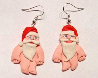 Santa dangly earrings