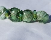 Cool Green Wishing Stones Barrette for your hair