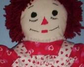 Raggedy Ann Rag Doll 20 Inch. Free Shipping.