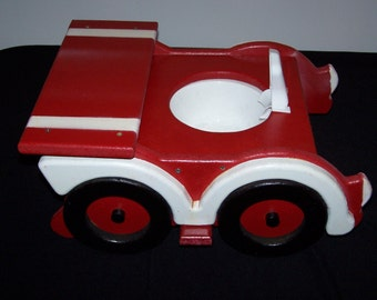 WOODEN RACE CAR POTTY CHAIR