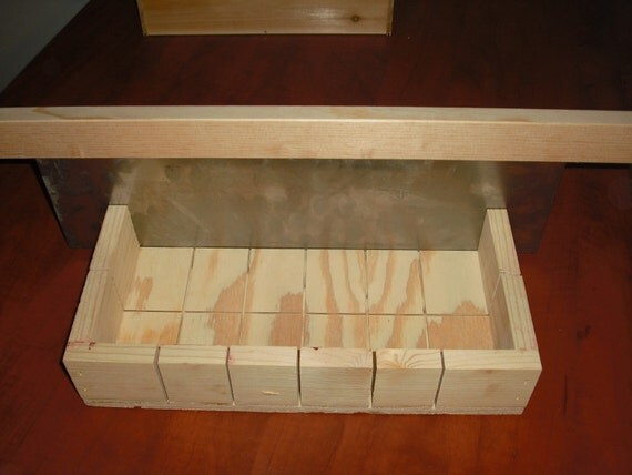 wooden soap mold loaf/cutter makes 18 bars