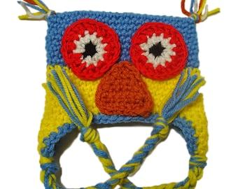 Crochet baby hat, Crochet baby owl hat,  Ready to ship, Baby boy hat,  Kids owl hat, Critter baby hat, Little girl hat