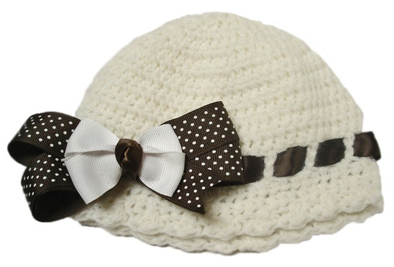 Crochet baby hat, Hairbows