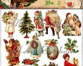 Digital Download of 19Vintage Christmas Images Collage Sheet No 2  - DIY Printables - INSTANT DOWNLOAD