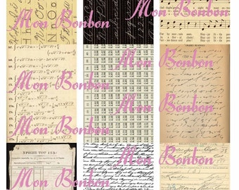 Digital Download  Vintage Paper Background Images Collage Sheet  ACEO ZNE ATC Item No. 116