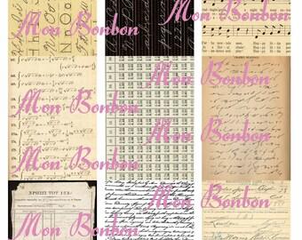 Digital Download ATC Vintage Paper Background Images - INSTANT DOWNLOAD