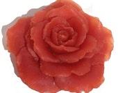 Glycerin Soap Flower Red Rose Hand Sculpted