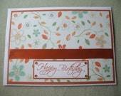 Floral Happy Birthday Greeting Card simple and pretty