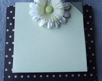 Coaster Clip Board with Post It Notes Black and beige