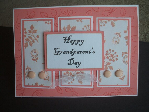 Grandparents  Day handmade greeting card