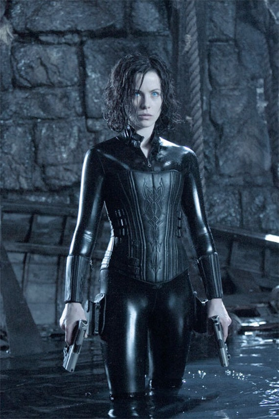 Custom Underworld Selene Catsuit, Corset and Gauntlets for Steff c RESERVED, First installment