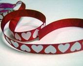 Destash Red and White Valentines Ribbon