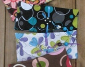 Designer Fabric  SIX  Cash Envelopes with designer Carrier AND Matching Coin Pouch