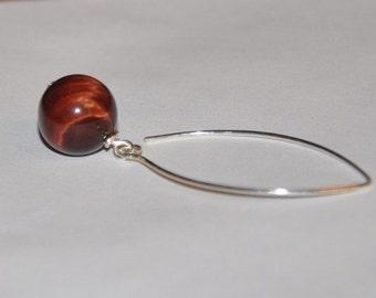 Tiger Eye Earrings,  Drop Earrings,  Sterling Silver,  Long Earrings,  Dangle Earrings,  Gemstone Jewelry