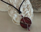 Necklace - Cranberry Stone Pendant