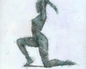 Astatine, Female Figure Original Mixed Media Painting