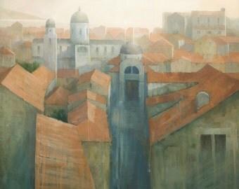 Dubrovnik Rooftops, Original Painting