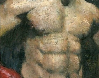 David Haye, Original Male Figure Painting