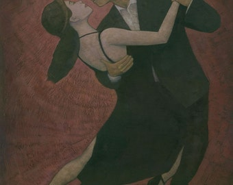 El Tango II, Original Acrylic Dance Figure Painting