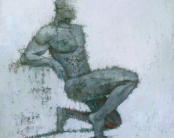 Idrium, Male Figure Original Painting