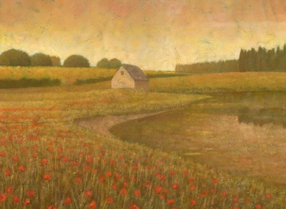 Lakeland Meadows I, Original Impressionist Landscape Painting