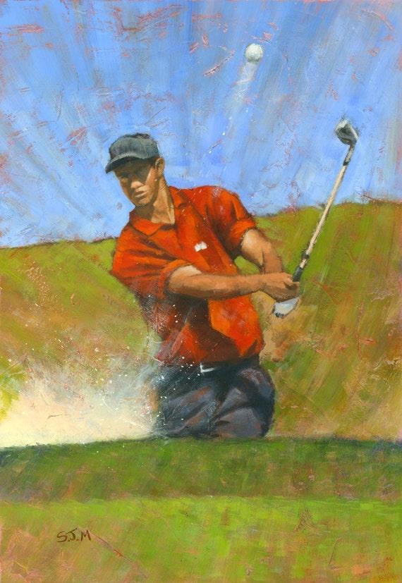 Tiger Woods Original Painting