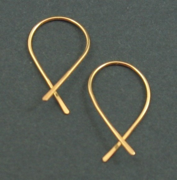 SWEET PETITE solid 14k yellow gold earrings by Crazy Daisy Designs
