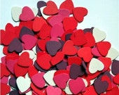 Destash 15 Wood Hearts .75 inch Assorted Colors