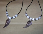 Reserved Set of 2 On Angel Wing Necklaces