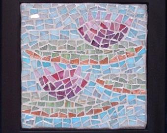 Water Lilies, Framed Mosaic Art