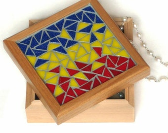Triangular Transition, Mosaic Jewelry Box