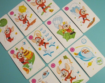 Vintage Space Mouse Cards - Set of 10 - Fun Illustrations