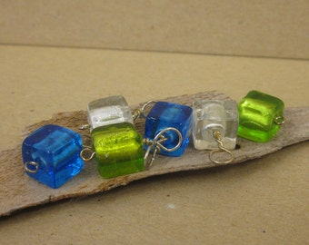 Ice Cube Stitch Markers - set of 6