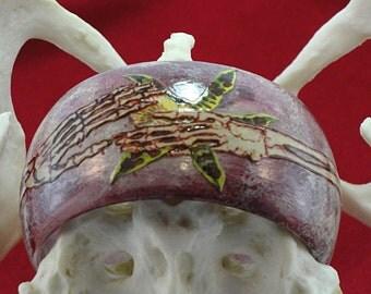 Sweet Memory Skeletal Arms Planatomy Decoupaged Bangle