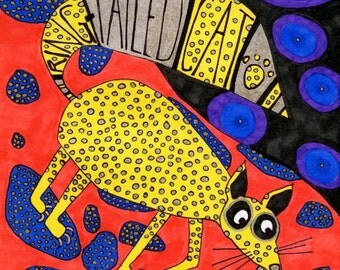 Hueco Tanks Ring-Tailed Cat PRINT