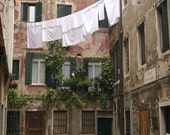 Laundry in Courtyard, Venice (8.5 x 11 inch photograph)