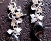 SALE. No. 106 Black Vines earrings