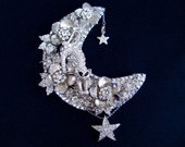 BUTTERFLY BUCKLES swarovski crystal brooch, cat moon star flower