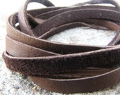 Brown SOFT Leather Lace   4ft.    jewelry grade quality    CHOCOLATE