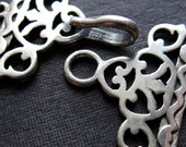 3 Strand Solid Sterling Silver Connector Clasp - High Quality workmanship - High End