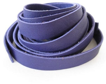 5ft Violet Genuine Leather Lace - 10mm X 1mm - Soft and Pliable for jewelry making