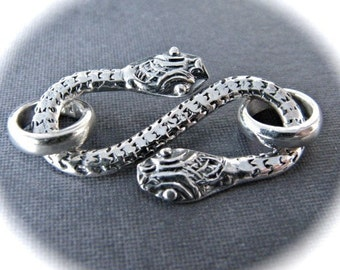 Snake Charmer S-Hook STERLING SILVER clasp - 26mm X 15mm