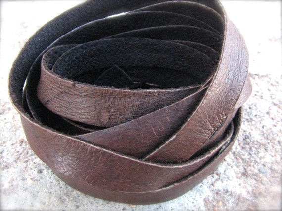 4 feet WIDE Chocolate BROWN Deerskin Leather Lace 9mm X 1mm thick - Jewelry Grade - soft and supple