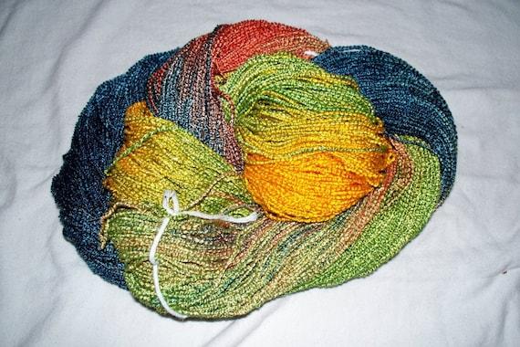 Handpainted Soft Rayon Boucle Yarn  HAZEL