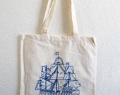 The Seas- Natural Tote bag